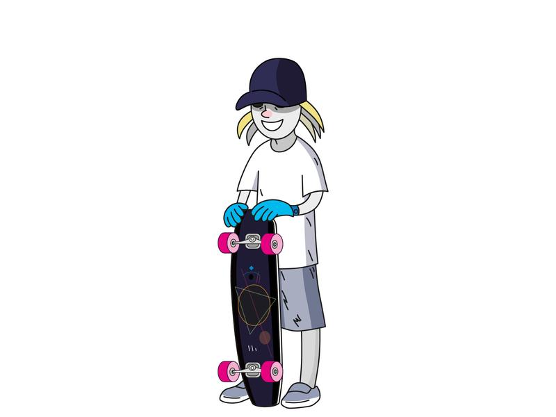 Longboarding longboards longboarding longboard vector illustration design
