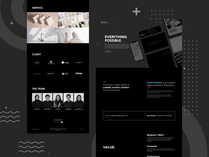 KastilCreative Landing Page web design website design web minimalist ui design design website landing page