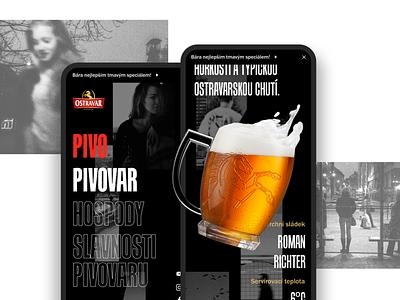 Brewery Website website webdesign web ui typography ostrava design czech brewery branding beer