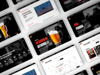 Brewery Website website webdesign ui web typography ostrava design czech brewery branding beer