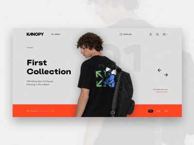 Kanopy   Online Store minimalist homepage ecommerce web design brands off white 2021 collection fashion clothing company clothes online store store shop online online shop company brand ui design
