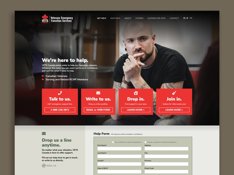 Vets Canada Website web design