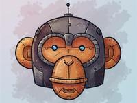 Steampunk Mech-Chimp