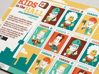 """""""Kids In The Hall"""" stamps"""