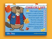 Autumn In Canada Checklist