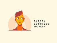 Classy Business Woman Logo