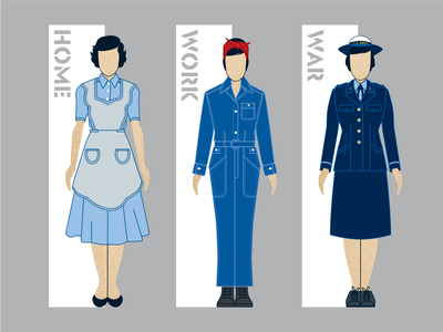 Exhibit Section Wayfinding Icons women vector navy rosie the riveter wwii illustraion icon