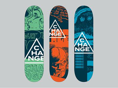 Change Skateboard Graphics comic books halftone skateboard graphics skateboard