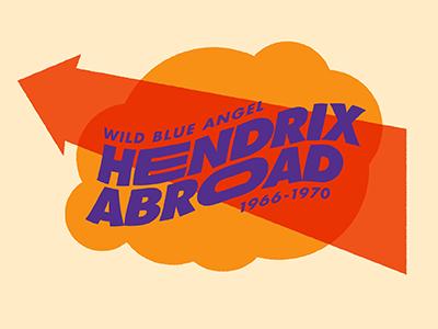 Hendrix Exhibit Logo warp psychedelic cloud exhibit graphics logo hendrix