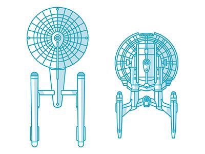 Enterprise(s) Part 1 nx-01 space vector scifi enterprise tos star trek