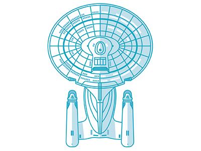 Enterprise(s) Part 2 space scifi 1701-d tng star trek vector