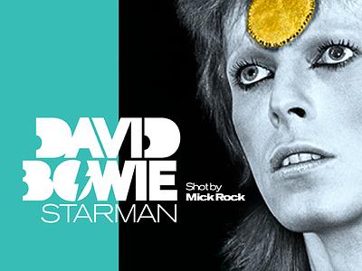 David Bowie: Starman Exhibit Logo mick rock lightning bolt type exhibit logo bowie