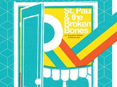 St. Paul & the Broken Bones Poster rainbow door mouth break on thru psychedelic