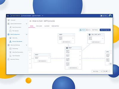 Code-free Data Model Editor flat minimal design vector branding ux design data analytics processmining business software data ui uxui saas accessibility usability ux data integration data model b2b enterprise software
