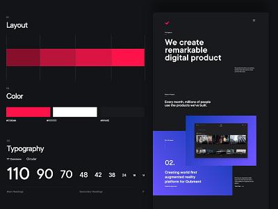 QuadAngles ( details ) web design typography wordpress ux design minimal design website ui ux ui design