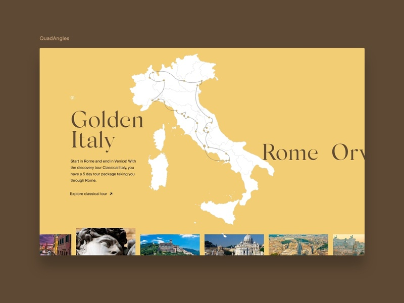 Travel Agency Concept ux design design concept illustration uxdesign ui design classic map minimal agency branding uiux tour traveling italy colorful agency website travel agency ux ui travel