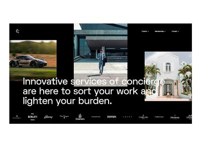 Creative Concierge service website luxury design luxury logo interaction luxury typography wordpress concept web design website ux design minimal ux ui design ui