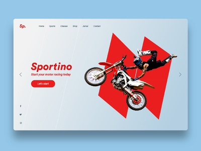 Sportino new sport website concept red colorfull typography sport sports sports branding sports design branding illustration web design ux design ui design minimal web design ux website ui