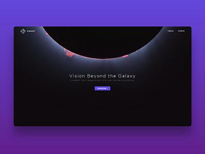 Qubment an augmented reality website vr augmentedreality ar art dark colorfull web web design ux design concept branding ui design minimal design website ux ui