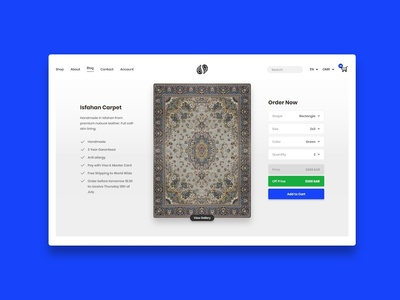 Online Carpet Store - Single Product page