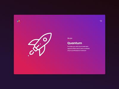 Quantum ui design design typography wordpress html colorfull branding ux design illustration web design minimal website ux ui