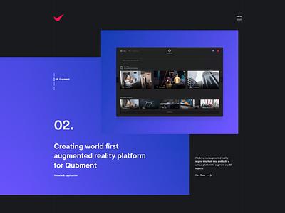 QuadAngles agency landing page design wordpress branding ux design minimal website ux ui design ui agency website agency