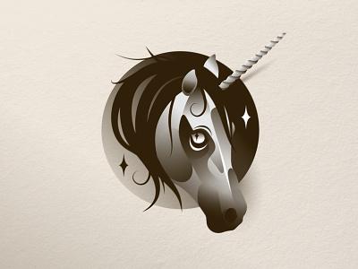Unicorn horse stars character illustration design art icon vector unicorn