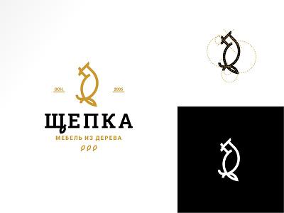 Logo - wooden furniture bird golden ratio mesh modular typography branding logotype logo design logo design art icon vector