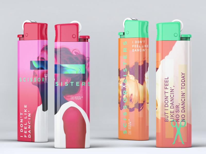 Scissor Sisters Tour Lighters concert branding surrealistic graphic design music lighters