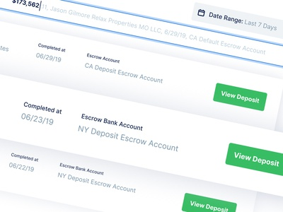 Transaction Search Results - Spruce finance interaction design interface figma realestate real estate escrow uxdesign b2c webapp dashboad ui ui design saas ux product design brand search result search