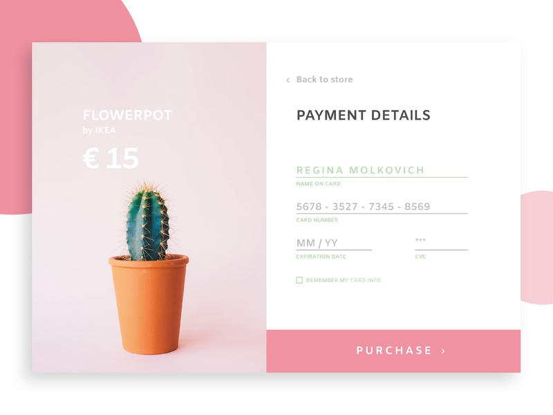 Credit Card Checkout vector flat typography website web ux ui pro100challenge minimal credit card design dailyui002