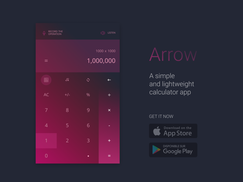 Calculator app calculator app mobile app pink calculator app ux ui pro100challenge minimal design