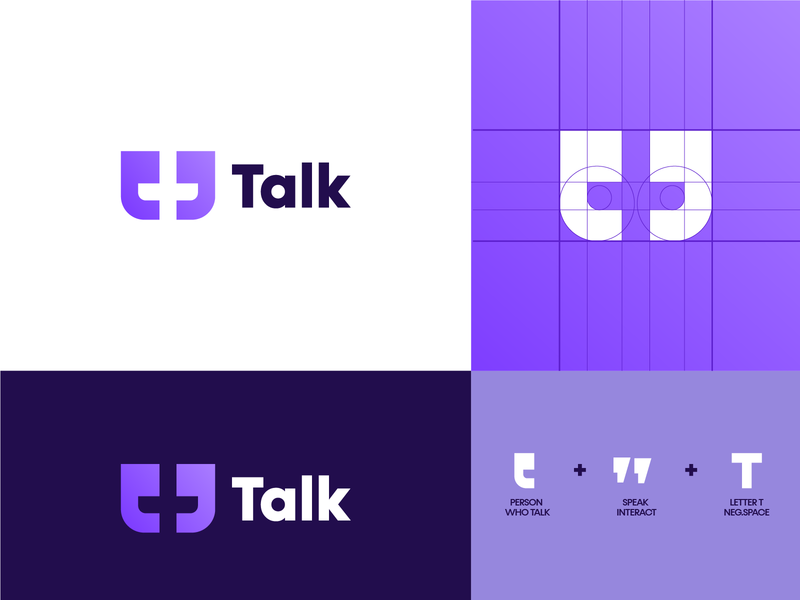 talk logo conceot logo design branding logo grid t logo app logo app icon logo creation logo creator colorful logotype logo concept design company logodesign minimal modern logo logo designer icon vector branding illustration design
