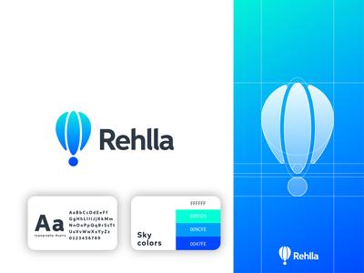 rahlla logo design air balloon blue logo animation logotype identity design brandguide brand strategy brand identity brand design colors logo logo mark minimal logodesign icon modern logo logo designer illustration branding design