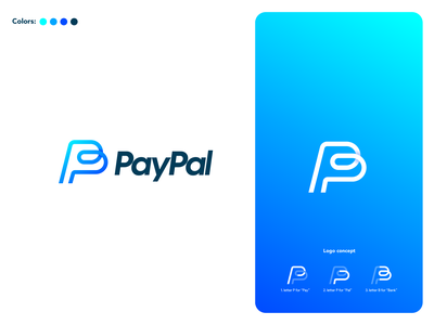 PayPal Logo Redesign logo grid logo concept rebranding logo redesign website animation flat minimal web app icon typogaphy ux paypal vector branding logo illustration design