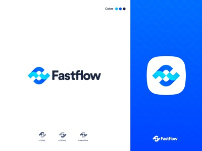 fastflow Logo design mark webdesign identity design brand identity blue flow brand design logo design branding logo design logotype logo concept logo mark minimal logodesign illustration icon modern logo logo designer branding design
