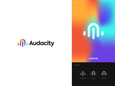 Audacity Logo Redesign icon web design sound logo logo mark logo colors colors holographic audacity logo redesign brand identity rebranding logo redesign logodesign modern logo modern logo graphic design branding