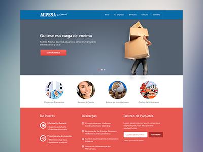 Alpesa website design