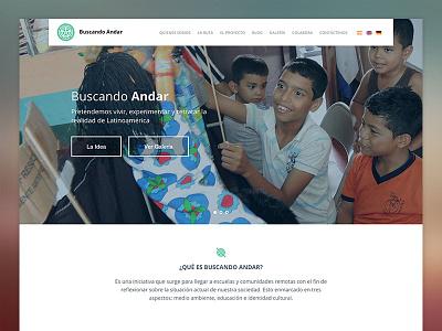 Buscando Andar website design