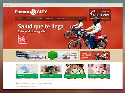 Farmacity nicaragua ui design website