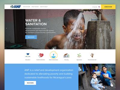 American Nicaragua Foundation (ANF) ux responsive nicaragua ui design website