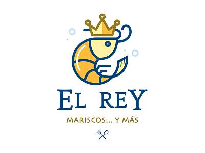 El Rey logo crown rey king shrimp