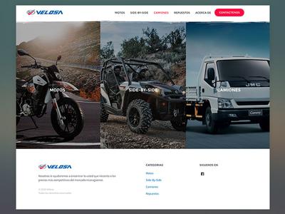 Velosa ux ui design automotive website