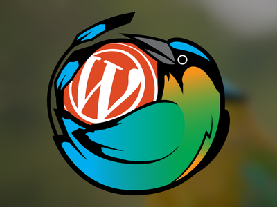 Comunidad WP Nicaragua bird guardabarranco nicaragua wordpress design logo