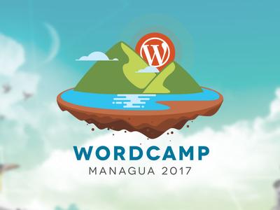 Wordcamp Managua 2017 design earth lake mountains wordcamp logo wordpress