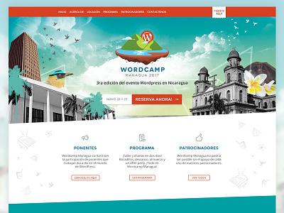 Wordcamp Managua Website nicaragua design wordcamp wordpress website web