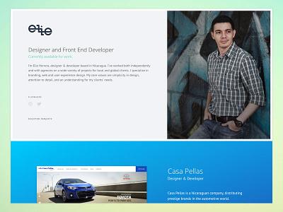 Personal Website v4.1 nicaragua developer designer web minimal design website portfolio