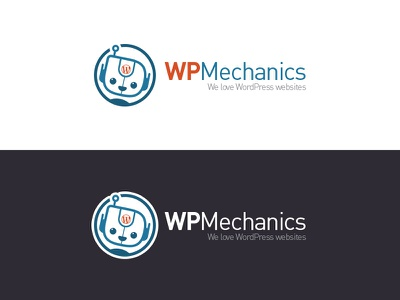 WPMechanics illustration design robot wordpress logo