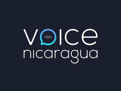 Voice Nicaragua nicaragua design voice logo