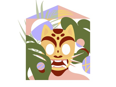STAYHOME house mask mexico plants home quarantine stayhome illustration